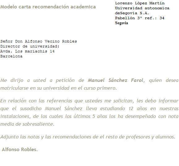 carta de recomendacion academica - Acurlunamedia