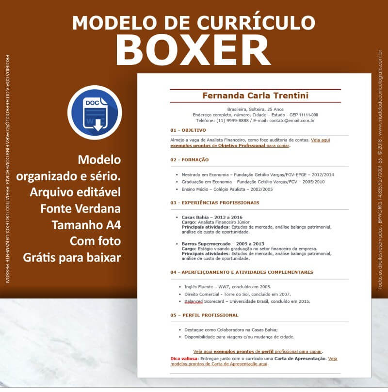 18 Modelos de Currículo Prontos para Baixar e Preencher Grátis 2018