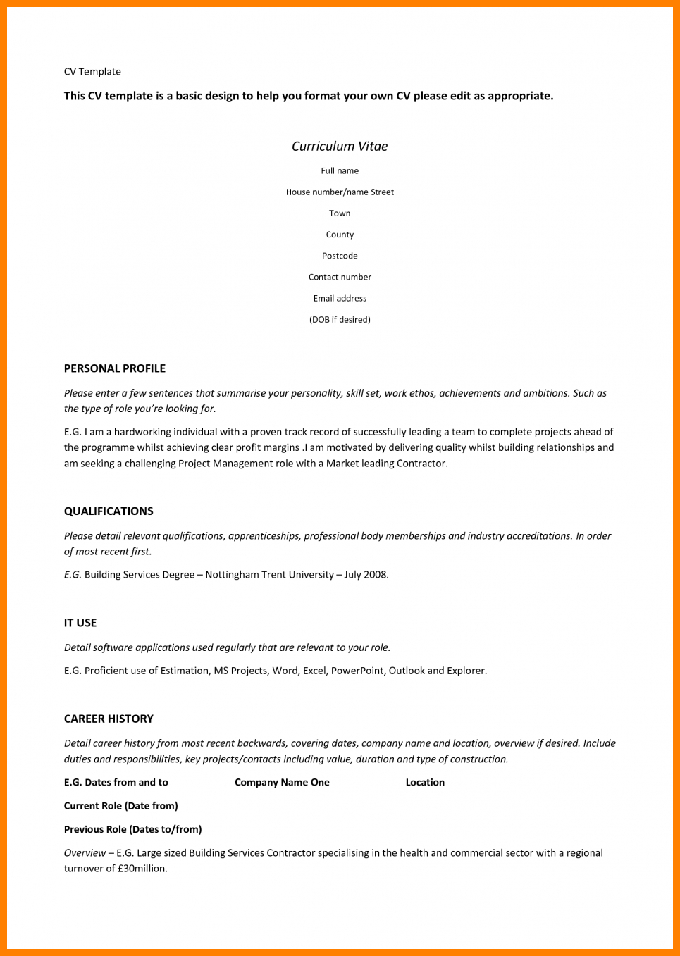 resume template wordpad download