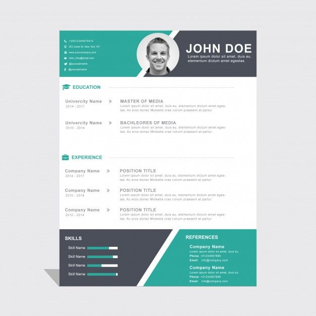 template cv telecharger