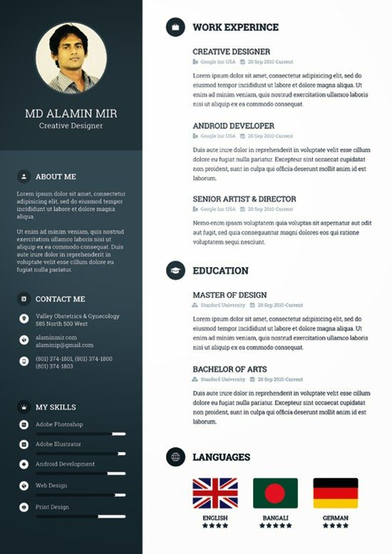 download template cv photoshop gratis