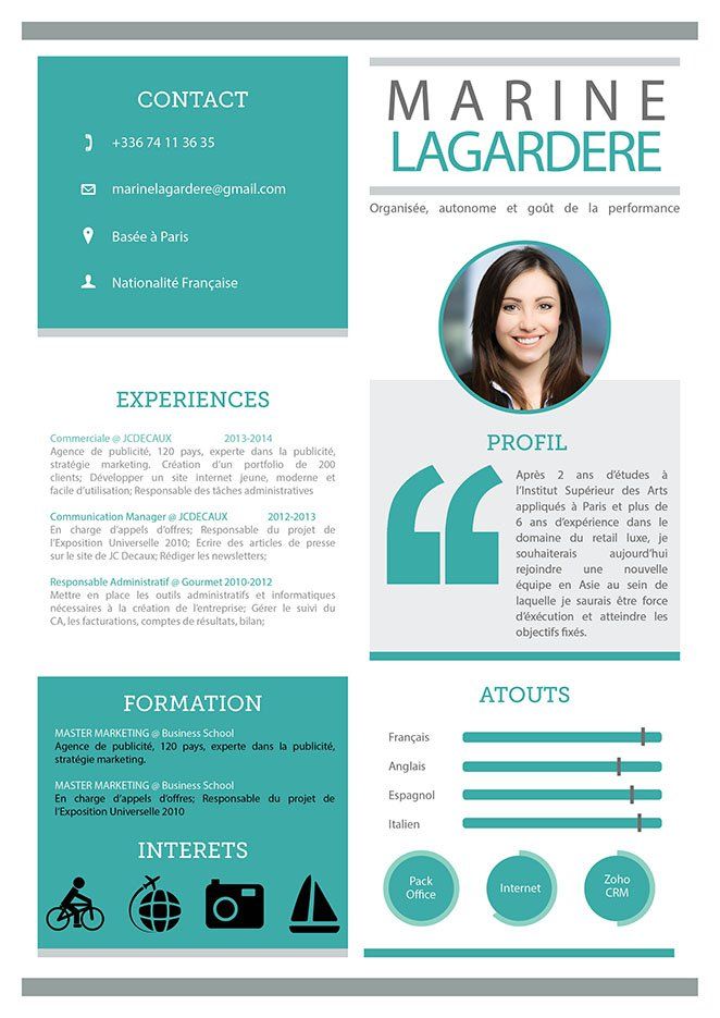 cv original word graphique