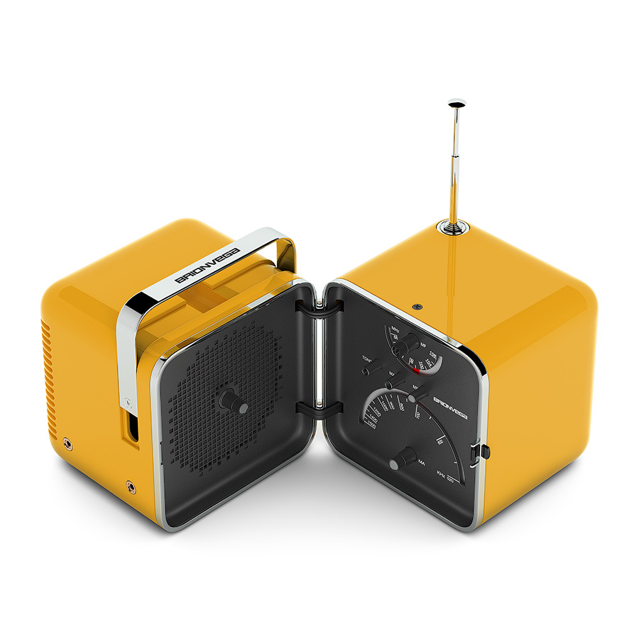 Tivoli Audio Yellow Brionvega Ts 502 Radio 3d Model