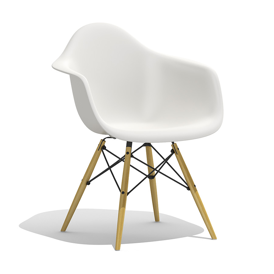Eames Chair Beige Eames Plastic Armchair Daw 3d Model