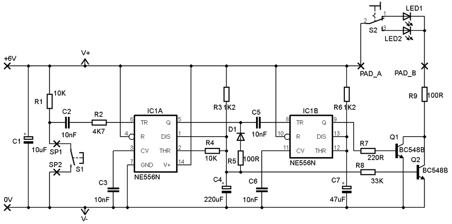 is the modified version of the circuit where i added 3k9 resistor