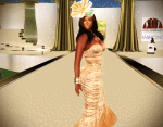 Makena wearing ghee's 'Spring Pastel Gown'