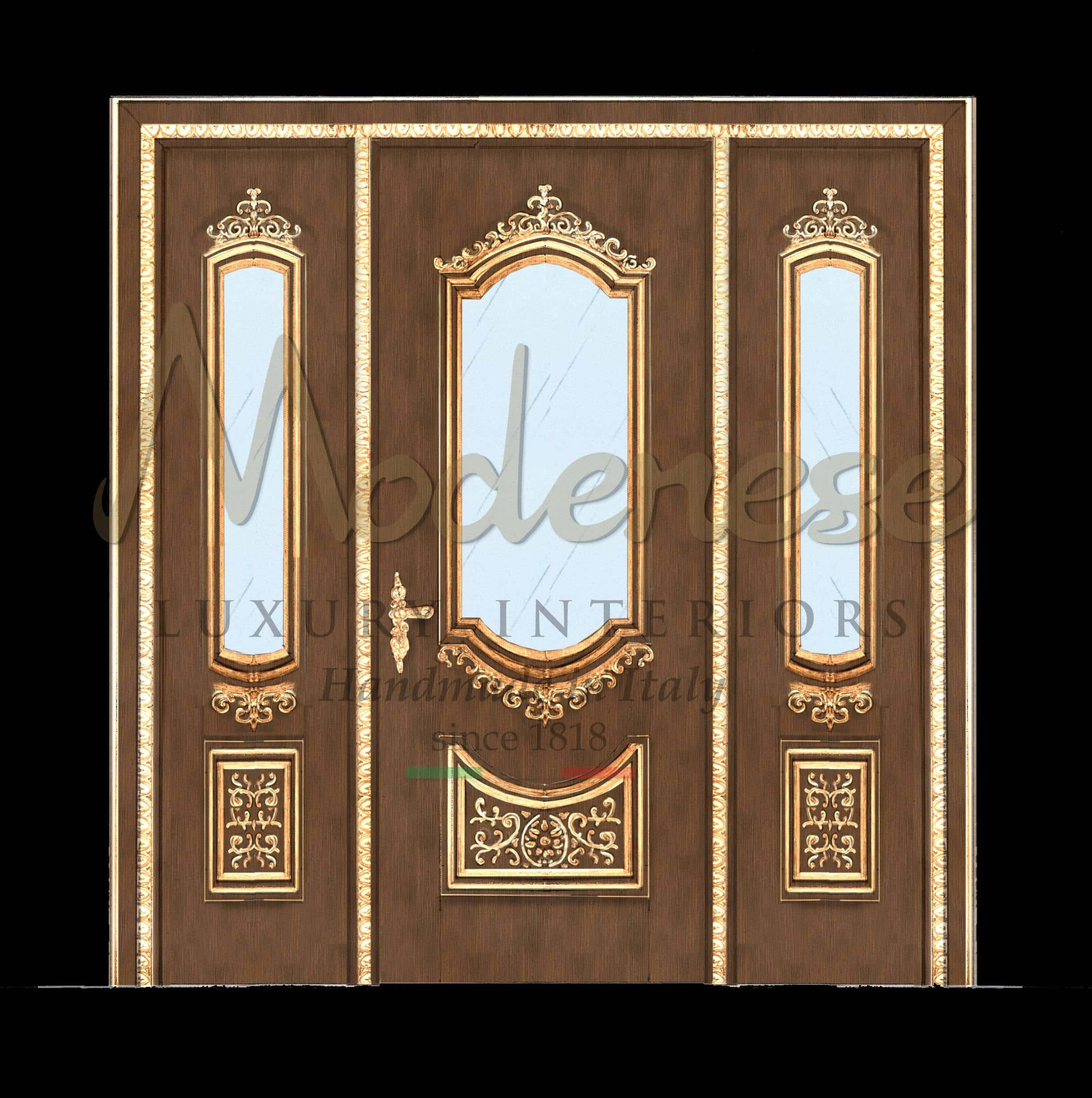Made In Italy Handcrafted Luxury Classic Doors Home Furnishing Fixed Furniture Modenese