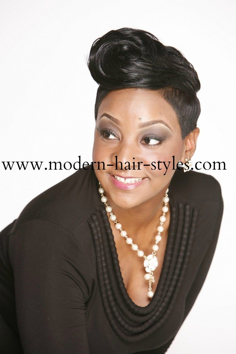 Hair Styling Spray Short Black Hair Pictures And Styling Options For Relaxed