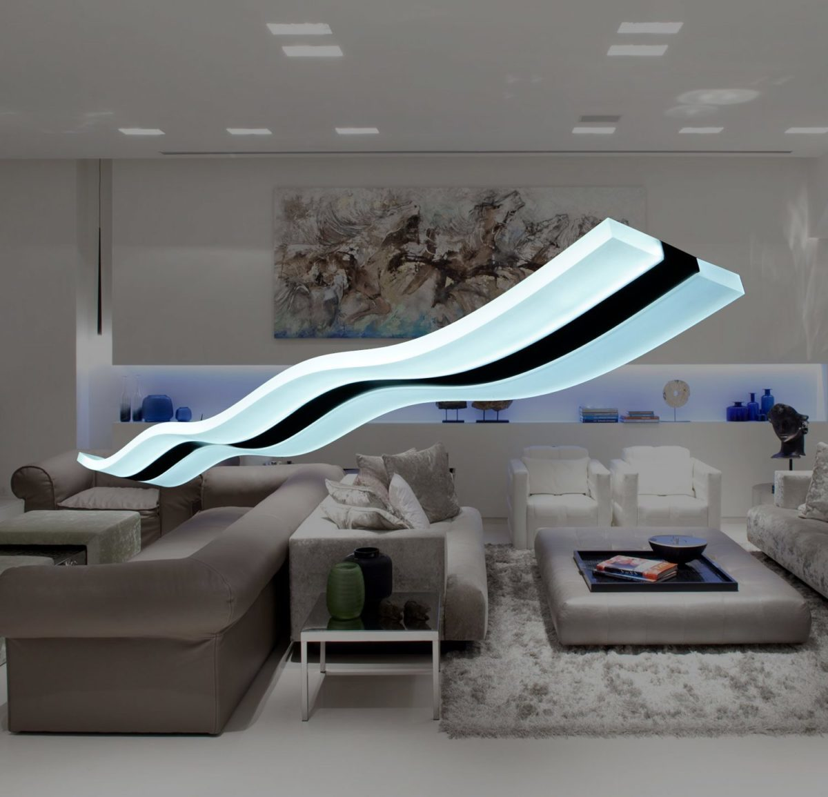Modern Lighting Wave Pendant Light Fixture Modern Place
