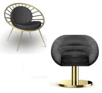 Black Chair for a Luxury Black & White Living Room Decor