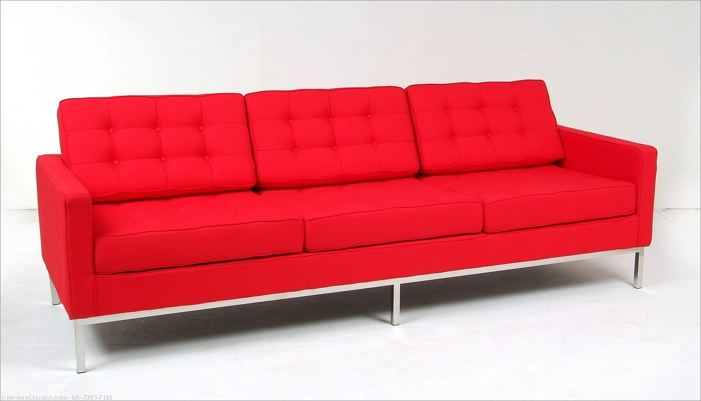 Knoll Couch Florence Knoll Sofa Reproduction Leather