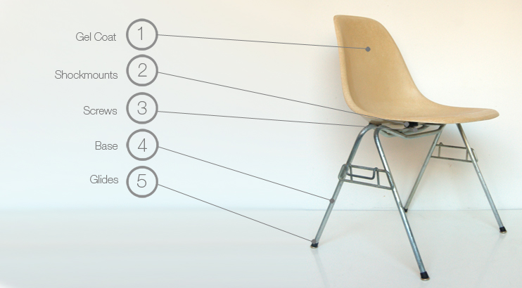 Charles Eames Daw Eames Scholastic Stacking Chair Parts