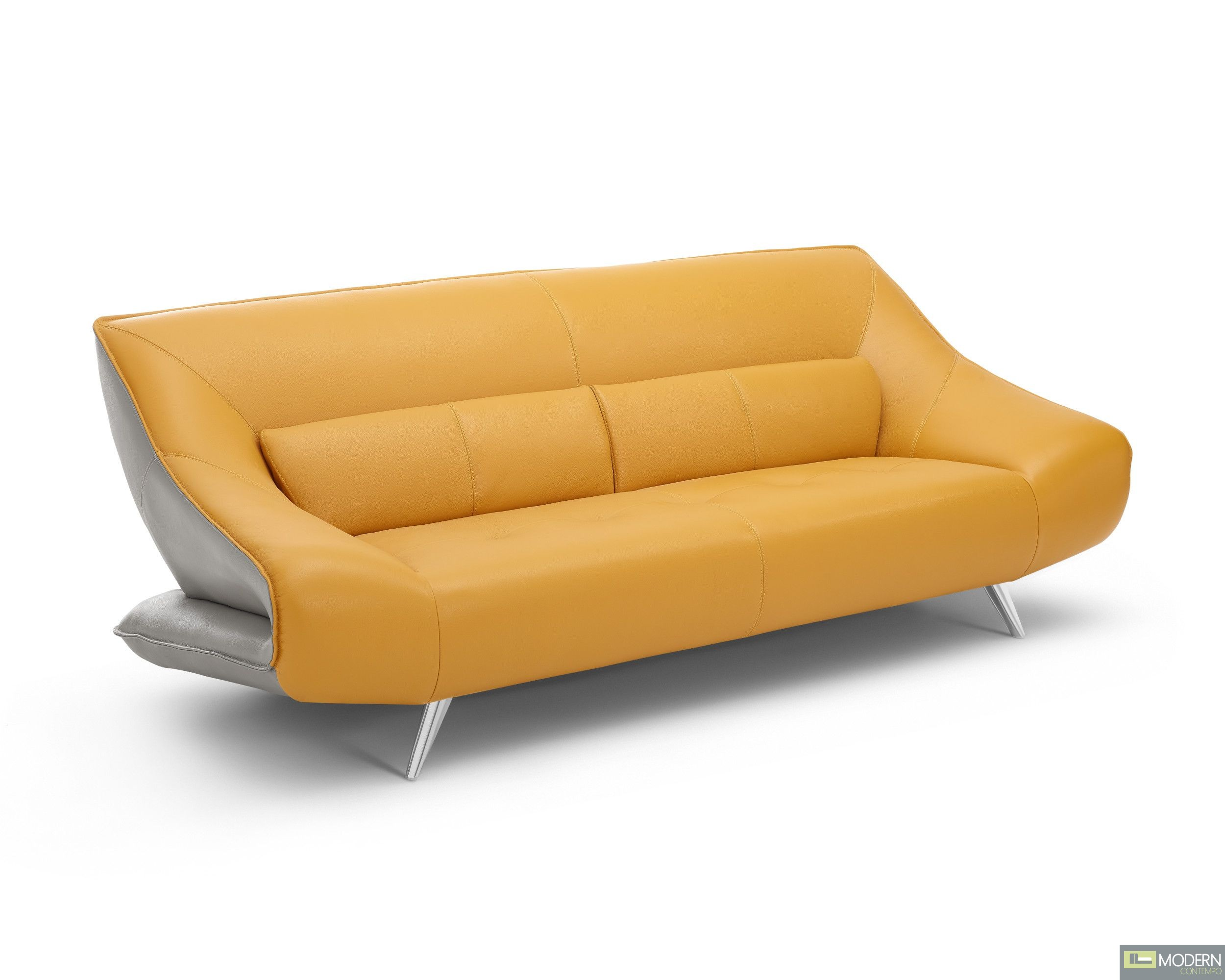 Modern Contempo Barcelona Italian Leather Sofa