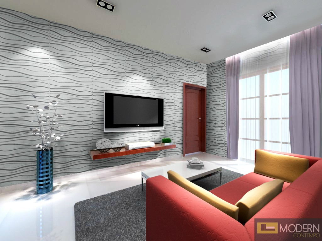Wall Tiles Designs For Living Room Breeze Textured High Grade Polymer Glue On Wall 3d Tiles