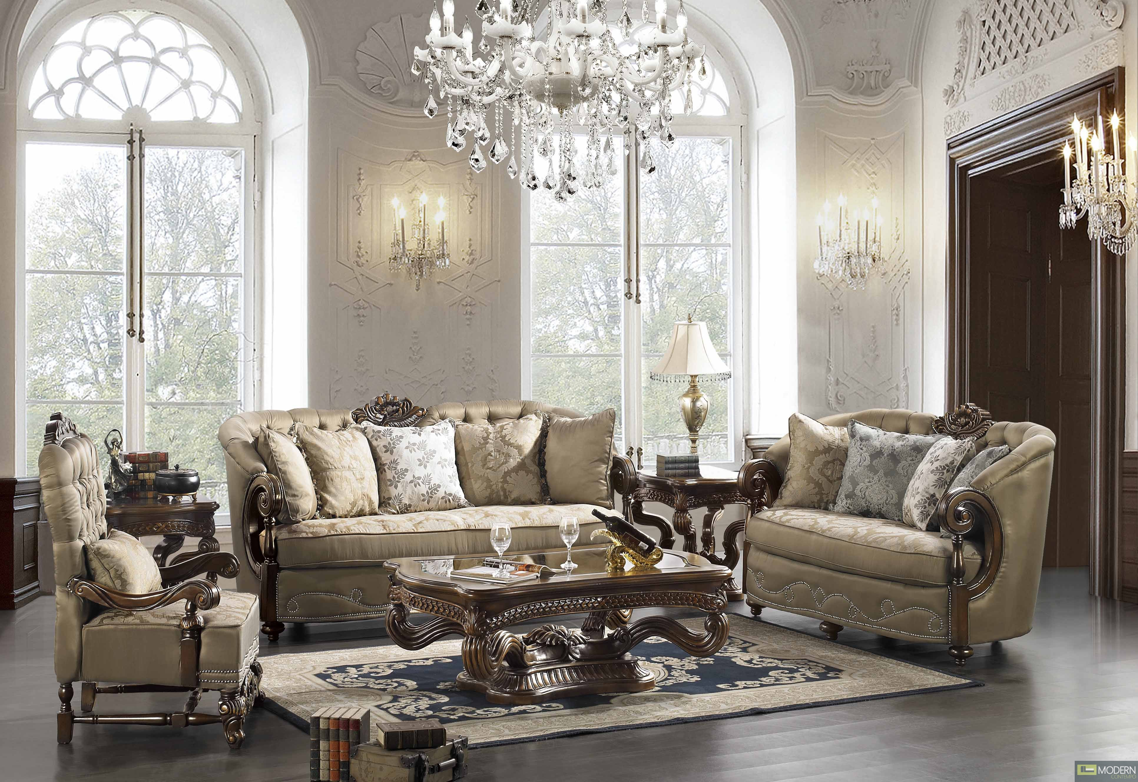 Living Room Sofas Sets Elegant Traditional Formal Living Room Furniture Collection Mchd33