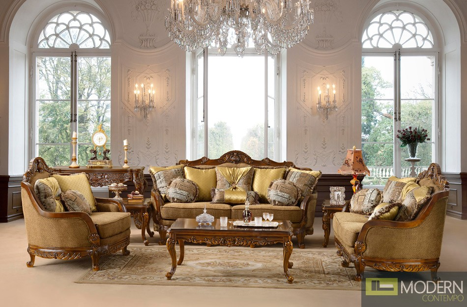 Traditional Sofa Set Formal Living Room Furniture - formal living room chairs