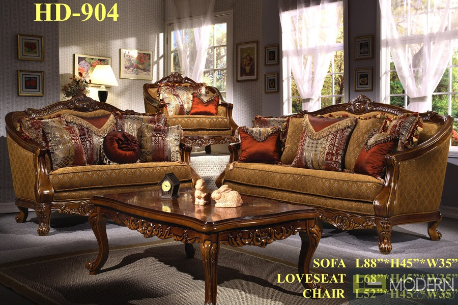 Victorian Traditional Sofa Set Formal Living Room Furniture HD-904 - victorian living room furniture