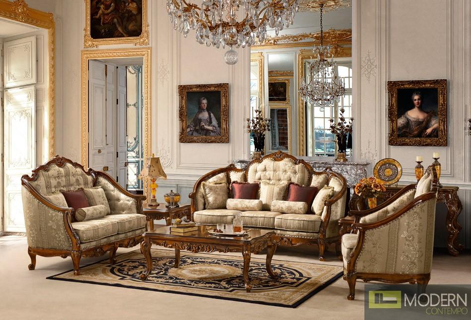 Traditional Sofa Set Formal Living Room Furniture Hd-953