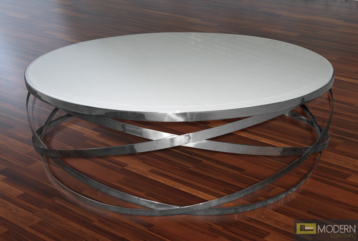 Round Contemporary Coffee Table Orion Modern Round Coffee Table