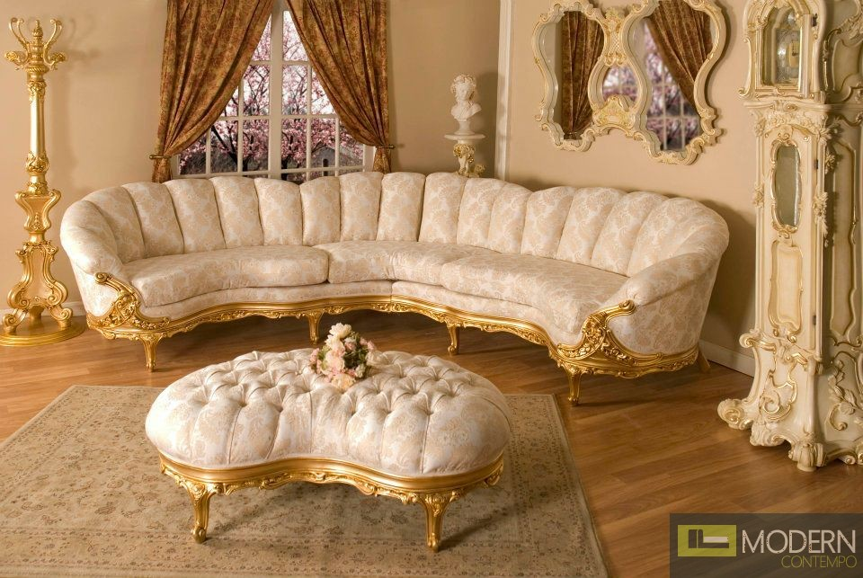Couch Bed Frame 3pc High End Classic Provincial Victorian Sofa Loveseat