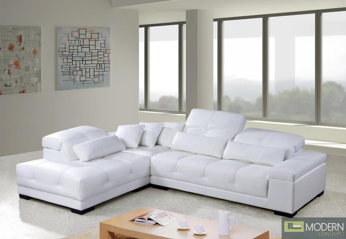 Sofa Rodeo Divani Casa Rodeo Modern Leather Sectional Sofa