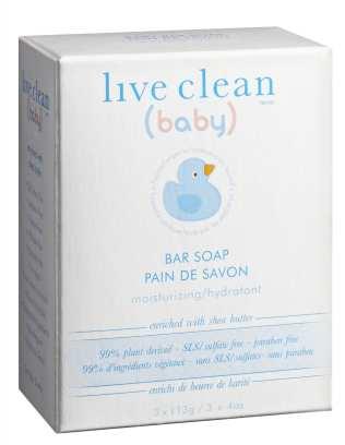 Live Clean Baby Bar Soap - Moisturizing