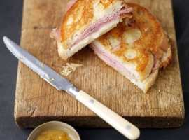 Ham and Mantego Cheese Panini