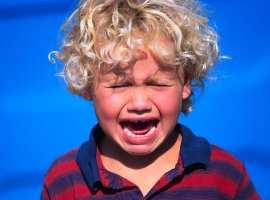 Blond Boy Crying
