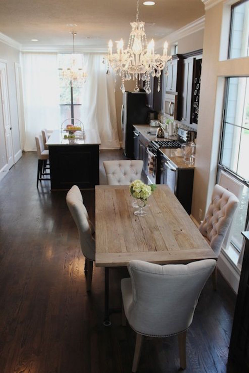 narrow dining table narrow kitchen table 10 Narrow Dining Tables For a Small Dining Room Discover the season s newest designs and