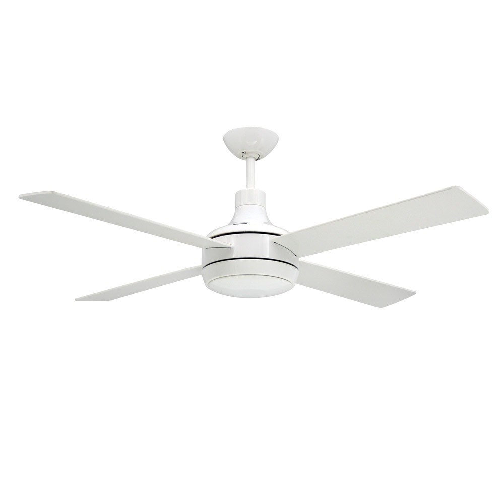 Modern Contemporary Ceiling Fans Quantum Ceiling By Troposair Fans Pure White Finish With Optional