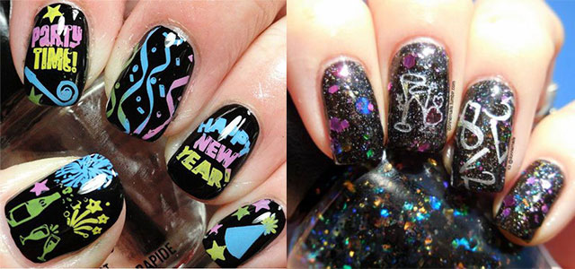 15+ Inspiring Happy New Year Eve Nail Art Designs  Ideas 2016