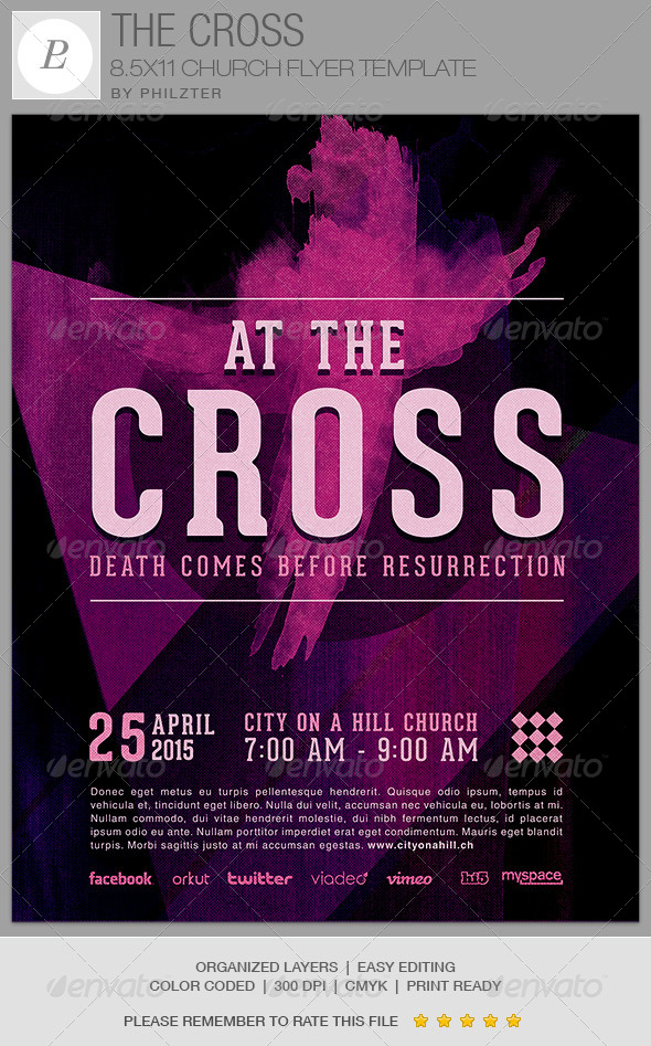 The Cross Church Flyer Template wwwModerngentz Your