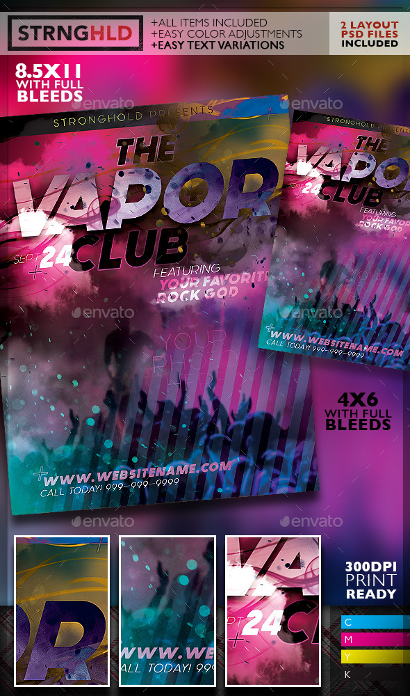 Vapor Club Event Flyer Template wwwModerngentz Your