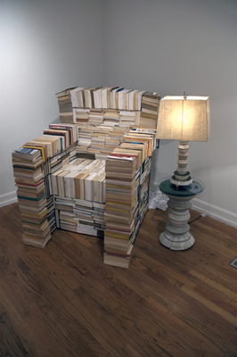 Thurman Reading Chair made out of recycled books