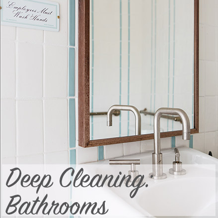 deep cleaning bathrooms modern home economics