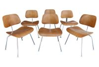 Set of Eames DCM Bent Wood Chairs for Herman Miller ...