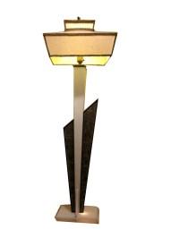 Mid Century Modern MCM Moss Lucite Floor Lamp   Modernism