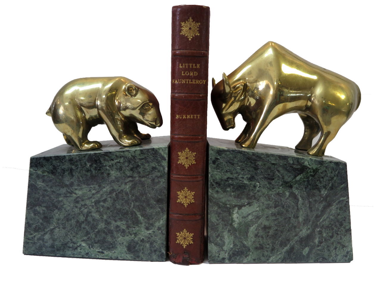 Bull And Bear Gifts Bull And Bear Marble And Brass Bookends Modernism