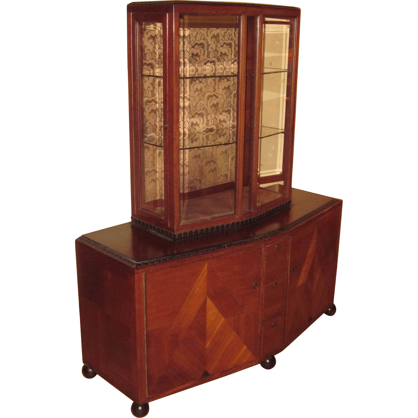 Modern Display Cabinet Clement Rousseau Attributed Modern Display Cabinet Modernism