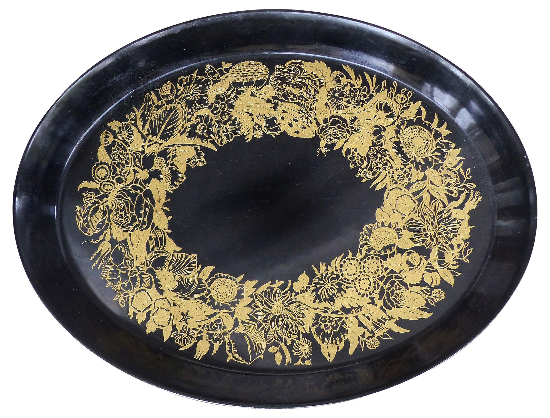 Metal Coffee Table Large Oval Metal Piero Fornasetti Tray | Modernism