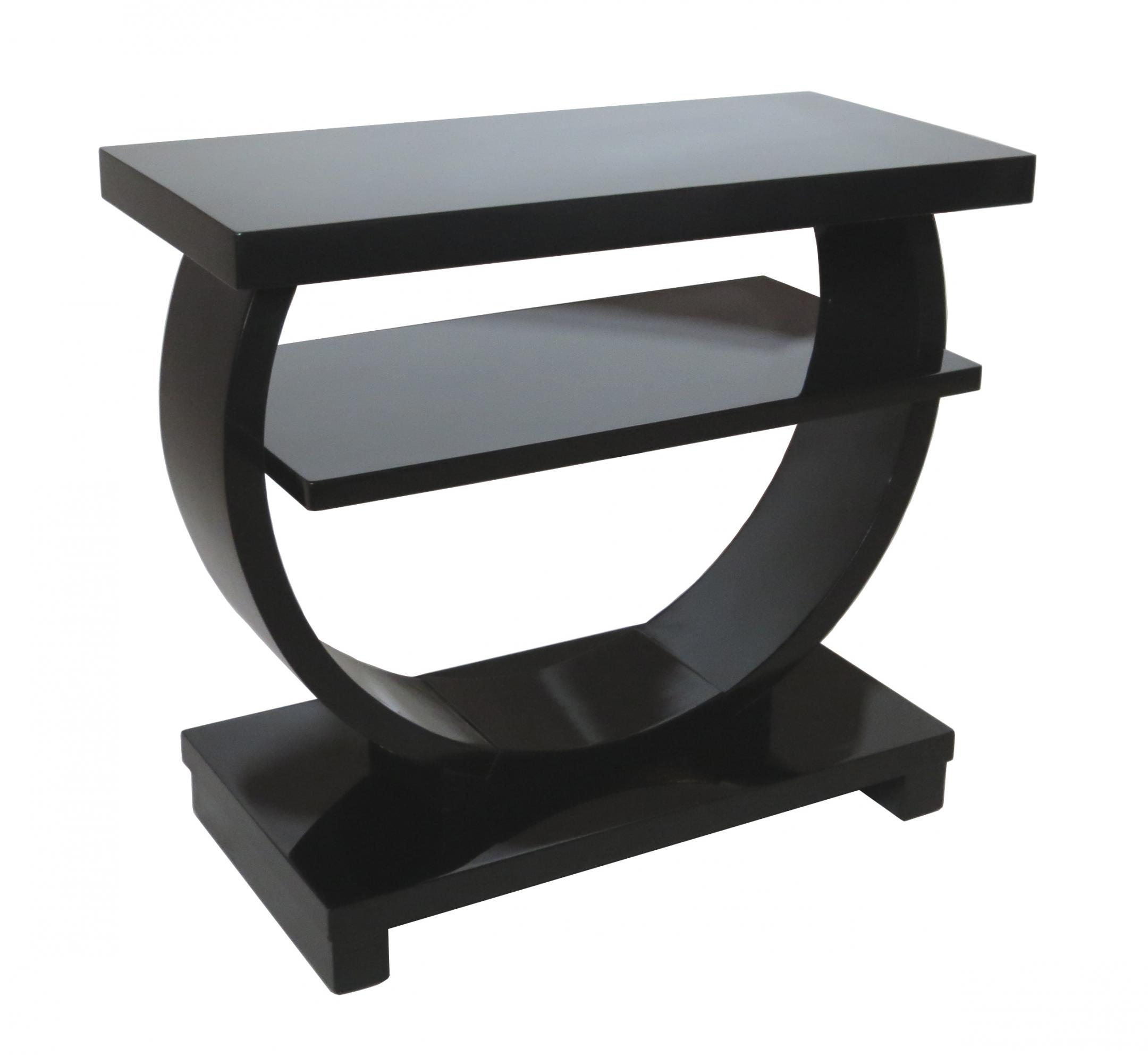 Black Modern Side Table Modernage American Art Deco Black Lacquer Side Table
