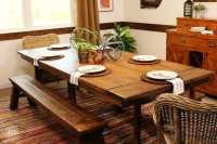 A Reclaimed Wood Dining Table Ikea Hack