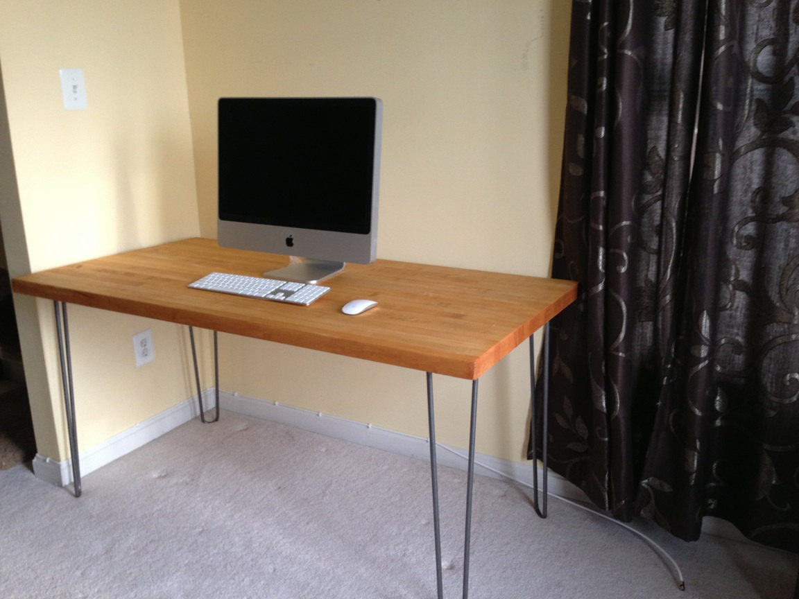 Diy Desk With Hairpin Legs Make Your Own Desk At Any Height Using Hairpin Table Legs Modern