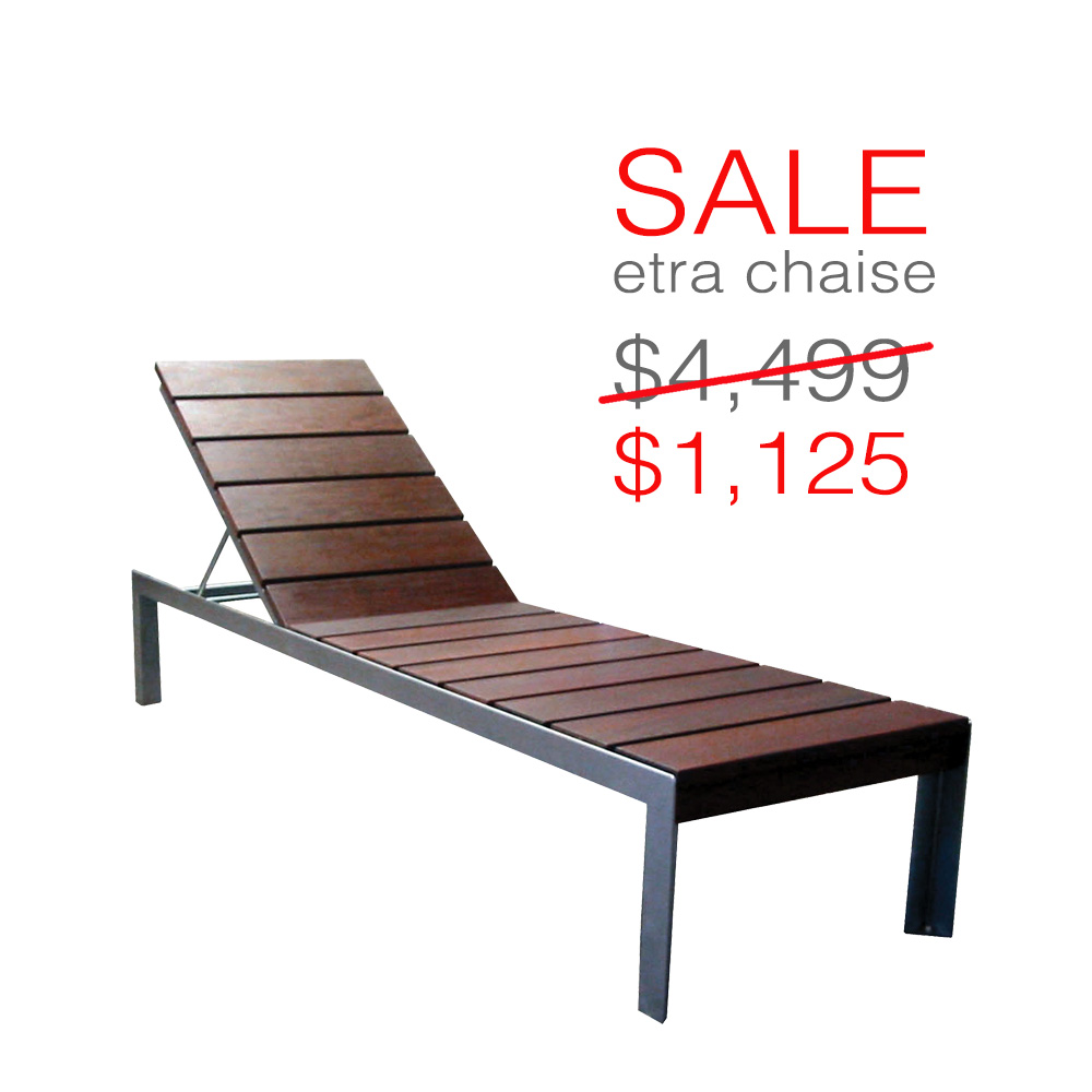 1000 Chaises Etra Stainless Steel Chaise Lounge Modern Outdoor