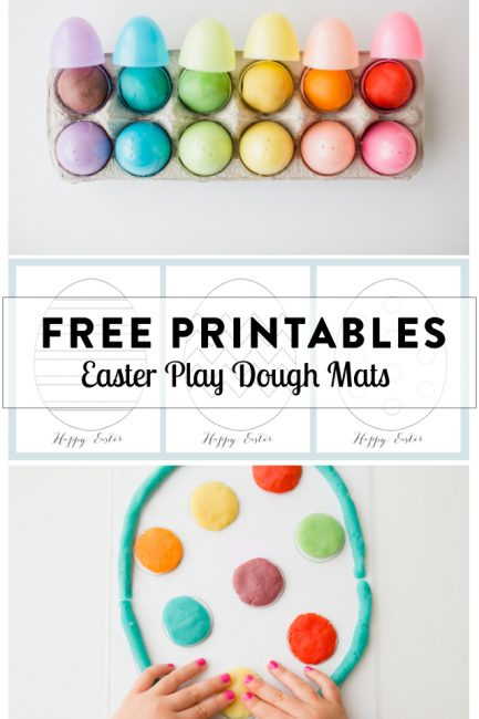 Play Dough Mats for Your Easter Baskets (Free Printables) - Modern