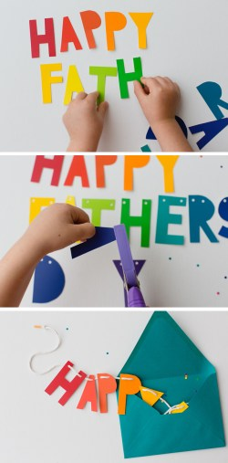 Calm Bright Colors Where Y Get Touse Diy Day Banner Card Parents Messy Kids Fars Day S From Daughter Fars Day S Christian My Kids Love Any Project