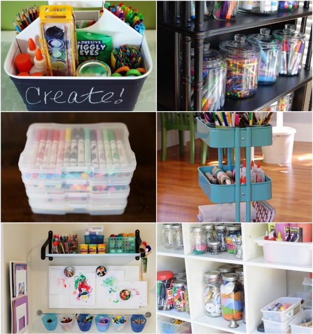 10 Best Ways To Organize Art Supplies - Modern Parents Messy Kids