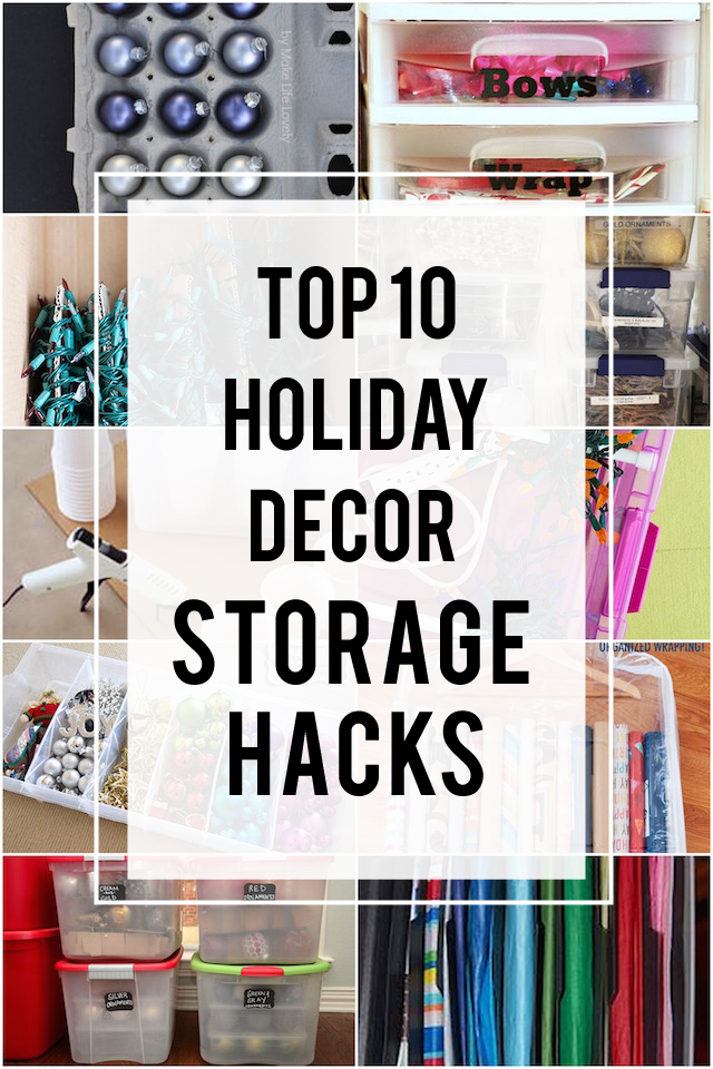 10 Winning (And Affordable!) Ways To Store Holiday Decorations - how to store christmas decorations