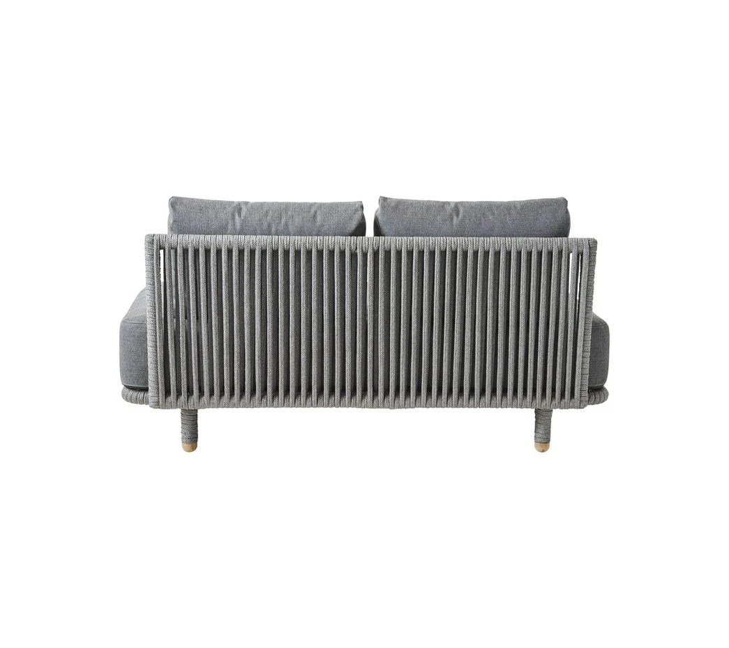 Sofa Module Cane Line Moments 2 Seater Sofa Module Includes Grey Cushion Set 7540
