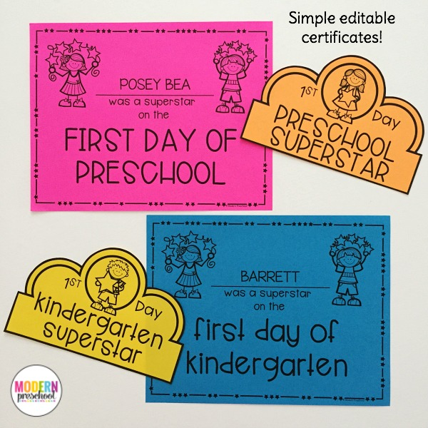 Welcome to School Pack for Preschool  Kindergarten